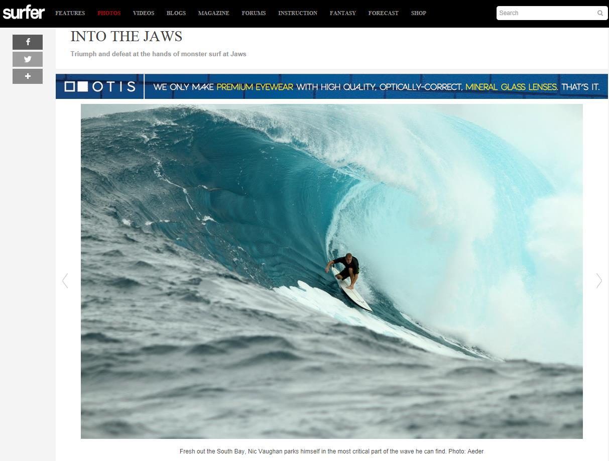 Surfer Mag Jaws March 2014
