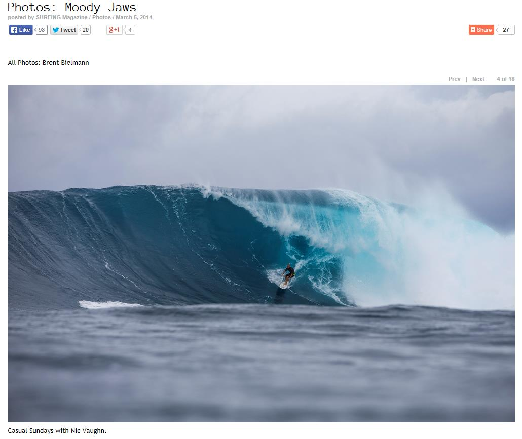 Surfing Mag Jaws March 2014