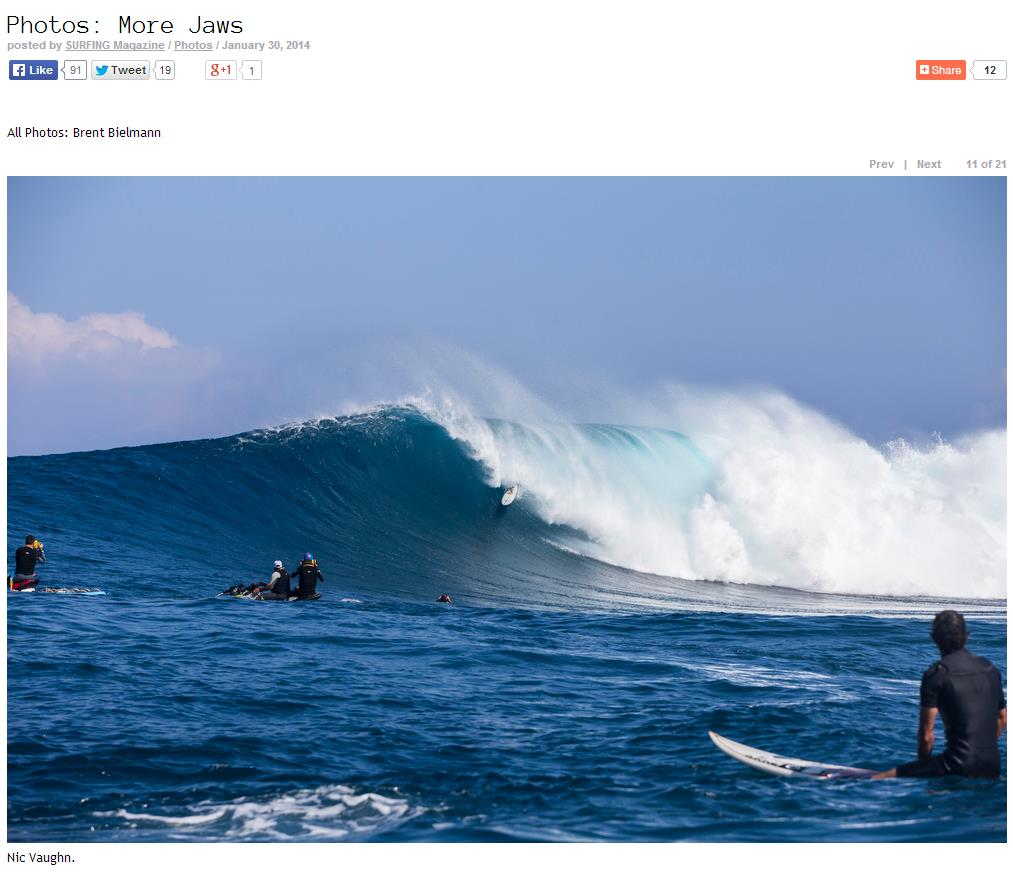 Surfing Mag Jaws Tube 2014